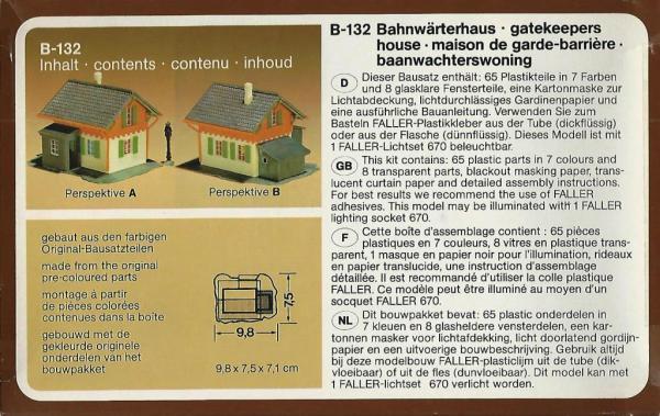 FALLER b-132 h0 bahnwärterhaus