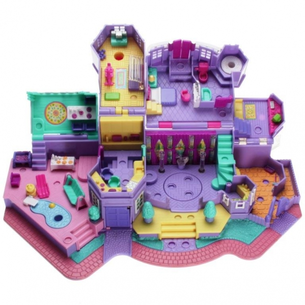 Polly Pocket Mini - 1994 - Pollyville - Light-up Magical Mansion Playset Mattel Toys 11985