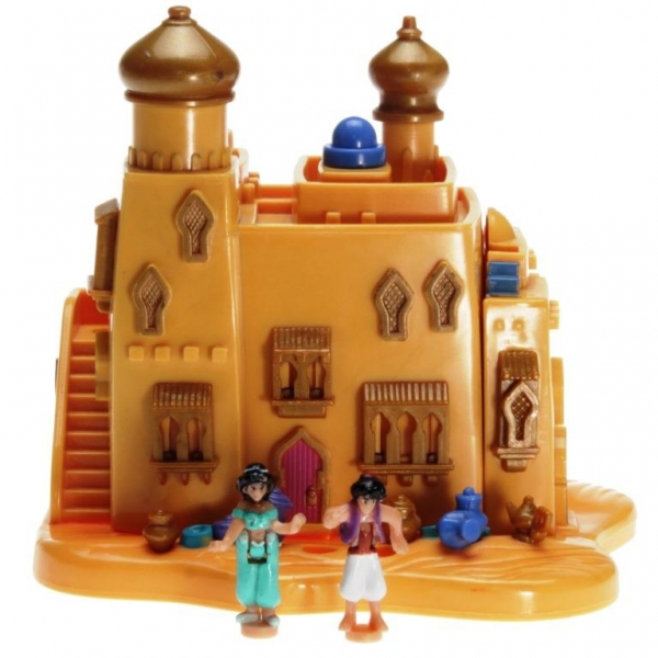 Polly Pocket Mini - 1995 - Disney - Aladdin Agrabah Marketplace Mattel Toys 14196