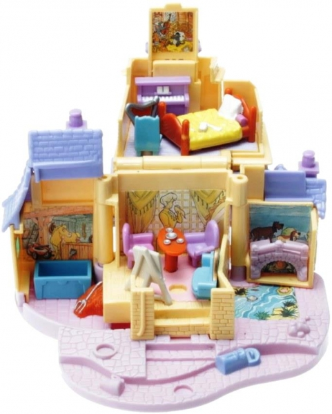 Polly Pocket Mini - 1996 - Disney - The Aristocats - Tinny Collection Mattel Toys 16647