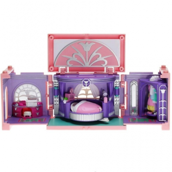 Polly Pocket Mini - 1999 - Dream Builders - Master Bedroom - Mattel Toys 23165