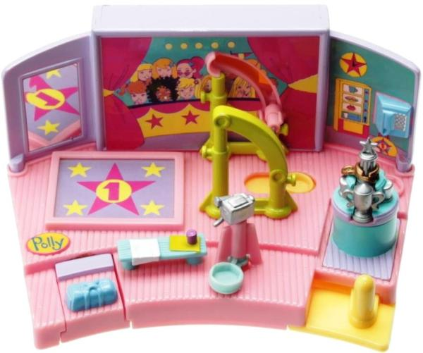 Polly Pocket Mini - 1999 - Gym Turnfest - Uneven Parallel Bar - Mattel Toys 24844
