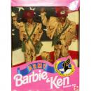 BARBIE - 05627 - 1992 Army Barbie Doll & Ken Doll Deluxe Set — African-American