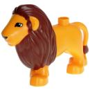 LEGO Duplo - Animal Lion Adult Male Second Version 4325c01pb01