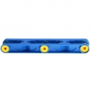 LEGO Duplo - Toolo Arm 2 x 12 with Triangular Set Screw at Both Ends and in the Middle Blue 6666c01
