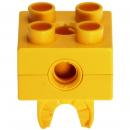 LEGO Duplo - Toolo Brick 2 x 2 with Holes and Clip Yellow 74957c01