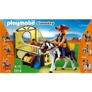 Playmobil - 5516 Tinker with brown-yellow horsebox