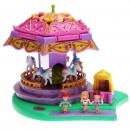 Polly Pocket Mini - 1996 - Fun Fair - Spin Pretty Carousel - Mattel Toys 17923