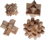Wooden Brain Benders (4 Puzzles)