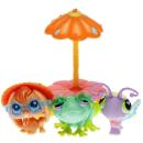Littlest Pet Shop - Garden Get Together 92576 - Butterfly 0478, Frog 0479, Rabbit 0480