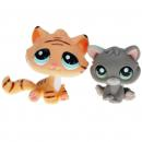 Littlest Pet Shop - Pet Pairs - 1607 Kitten, 1608 Tiger