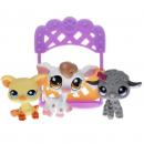 Littlest Pet Shop - Petting Zoo 92582 - Pig 475, Cow 476, Lamb 477