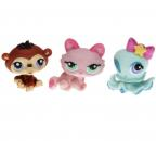 Littlest Pet Shop - Tubes 2009 - 1345 Kitten, 1346 Octopus, 1347 Chimpanzee