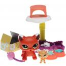 Littlest Pet Shop - Walkables - 2491 Cat, 2492 Kitten