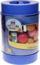 Just Like Home 85-Piece Play Food Set - Blue Bucket